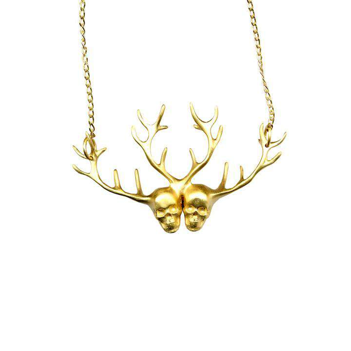 Siamese Twins Gold Necklace - Gisele Ganne - THE POMMIER - 1