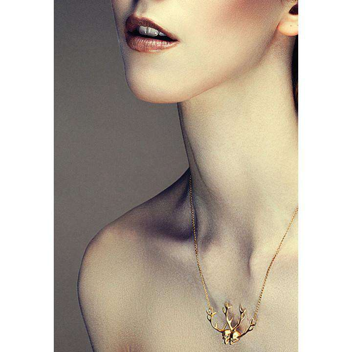 Siamese Twins Gold Necklace - Gisele Ganne - THE POMMIER - 3
