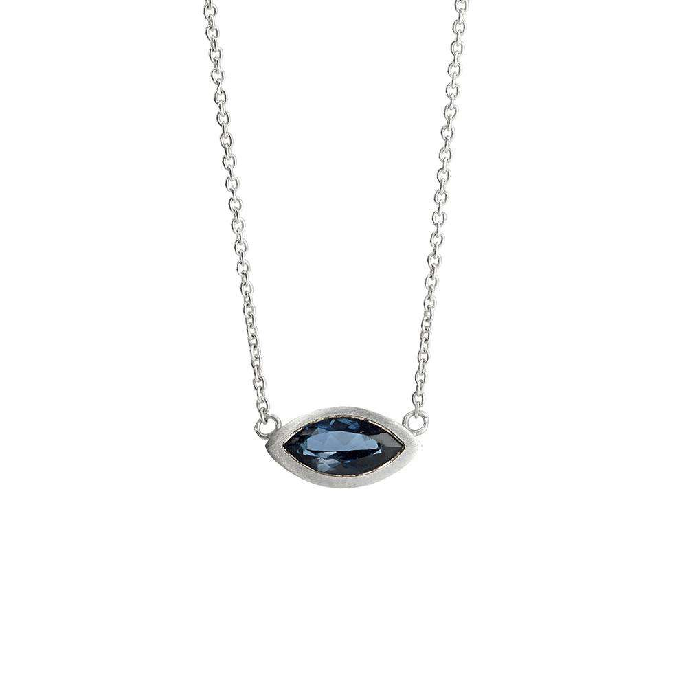 Marquise London Blue Topaz Necklace - Rhiannon Lewis Jewellery - THE POMMIER