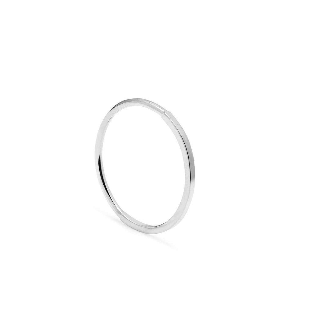 Silver 50 Round / 50 Square Skinny Stacking Ring
