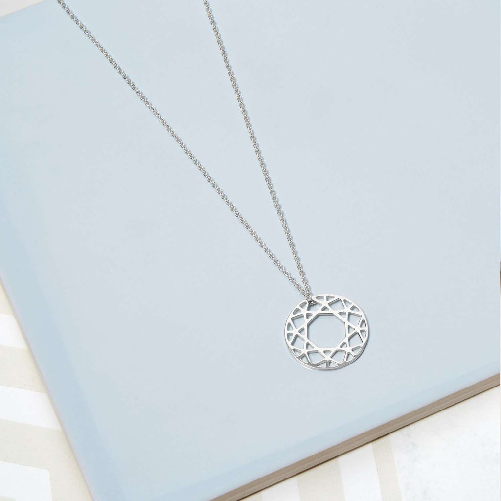 Small Brilliant Diamond Necklace - Sterling Silver