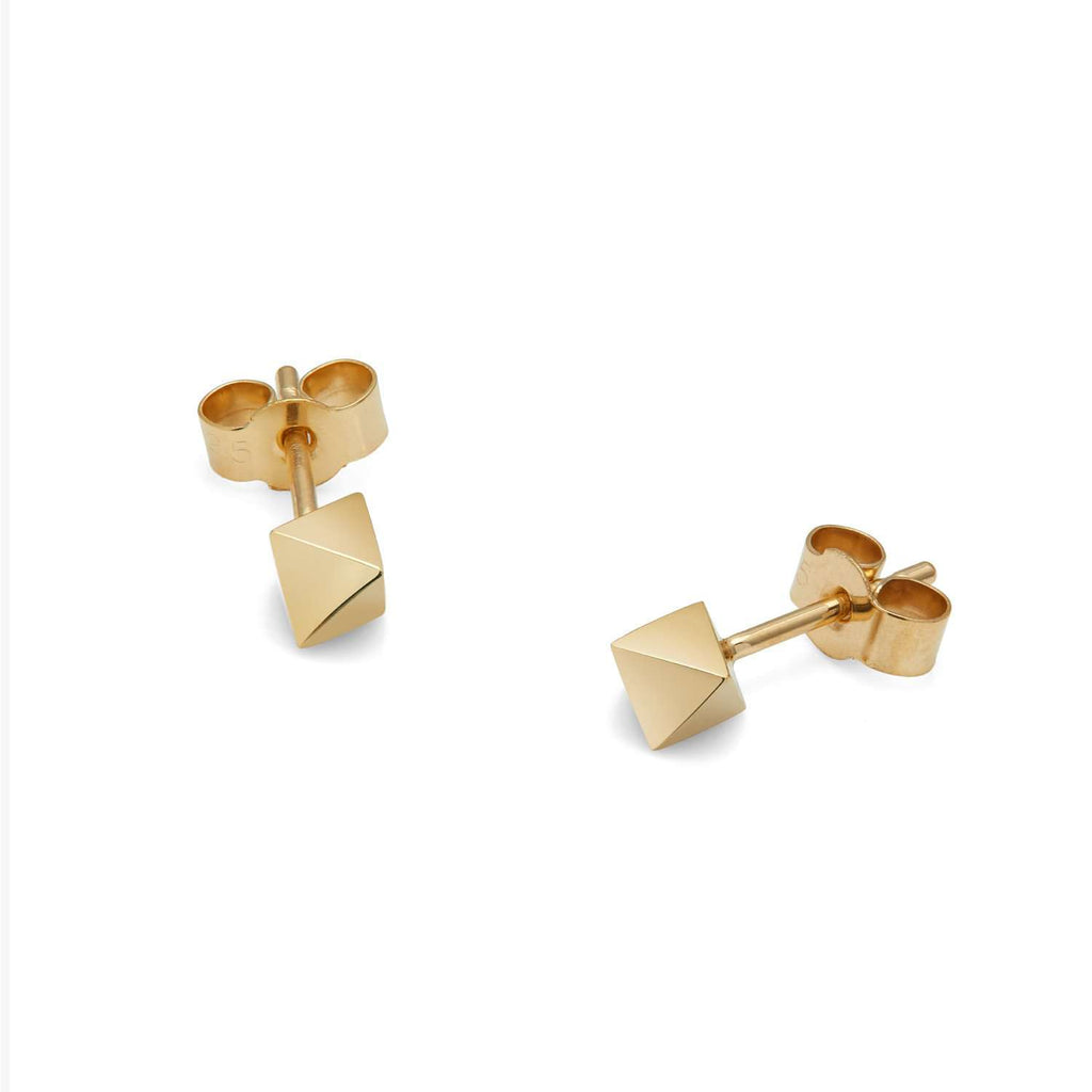 Octahedron Stud Earrings