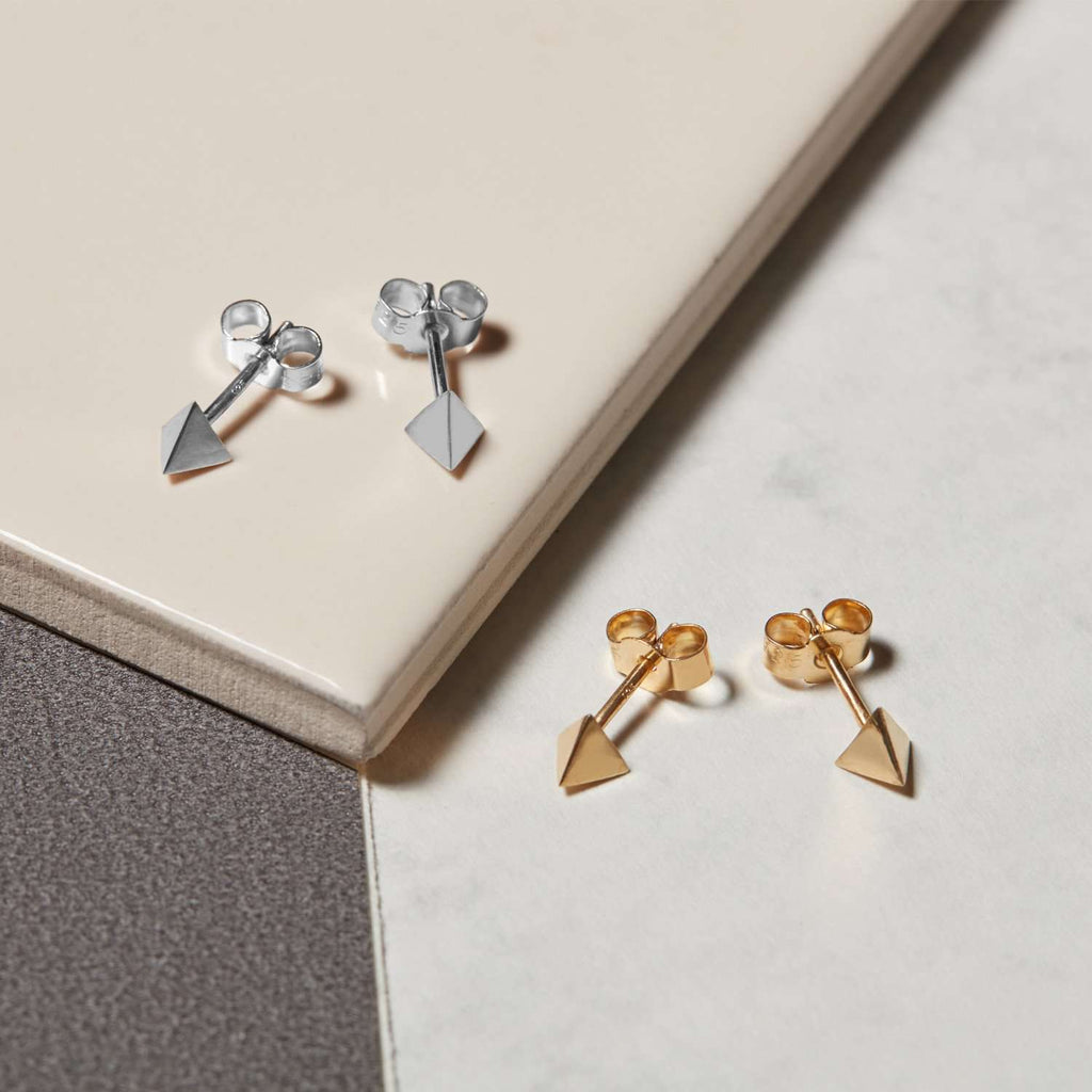 Tetrahedron Stud Earrings