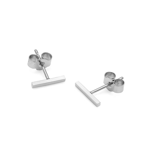 Sphere Bar Stud Earrings