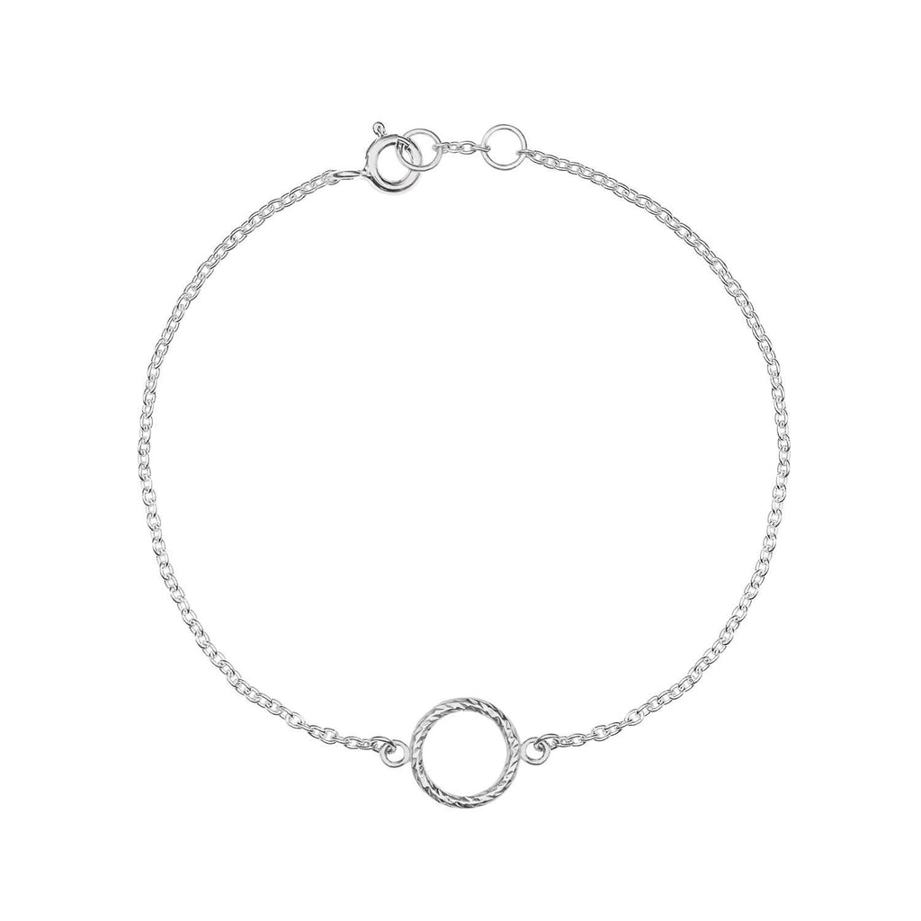 Mini Faceted Circle Bracelet