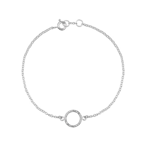 Silver Circle Sphere Necklace