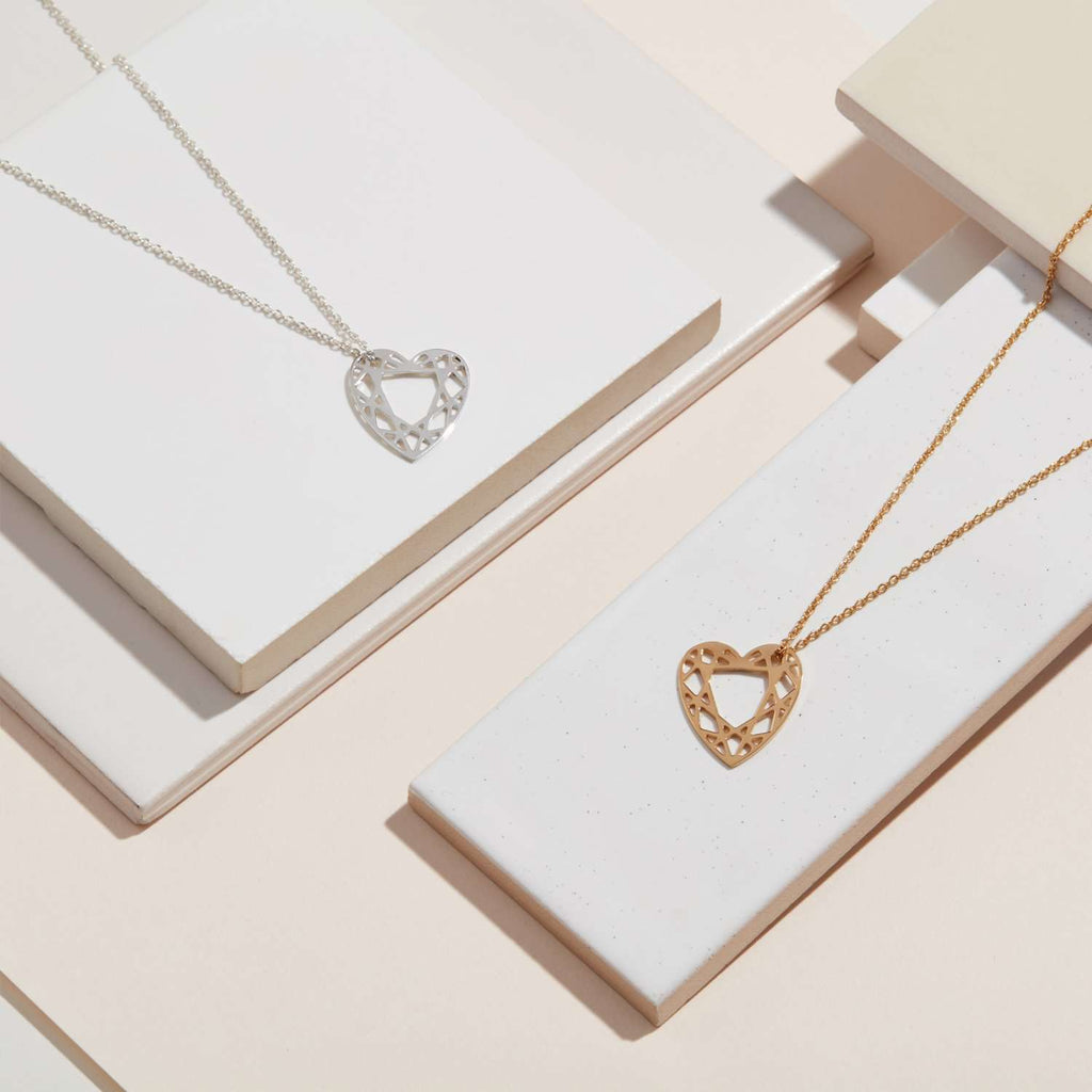 Small Heart Diamond Necklace