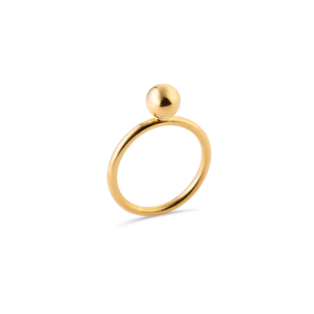 Midi Bubble Ring Gold Plated Sterling Silver