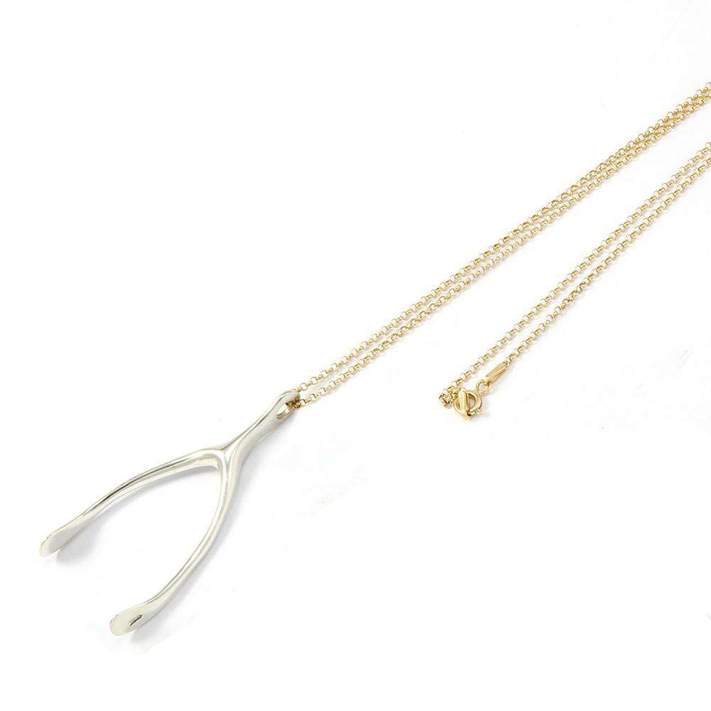 Silver and Gold Chance My Luck Necklace