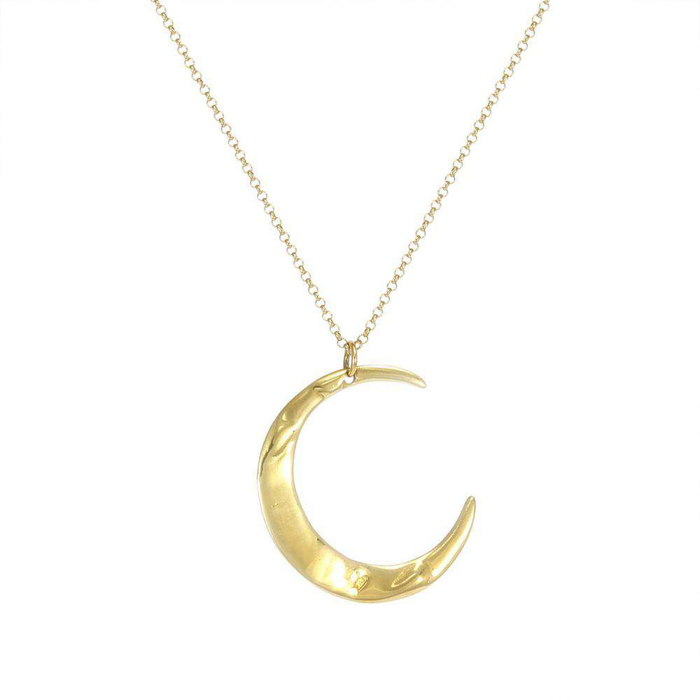 Gold Mega Lune Necklace