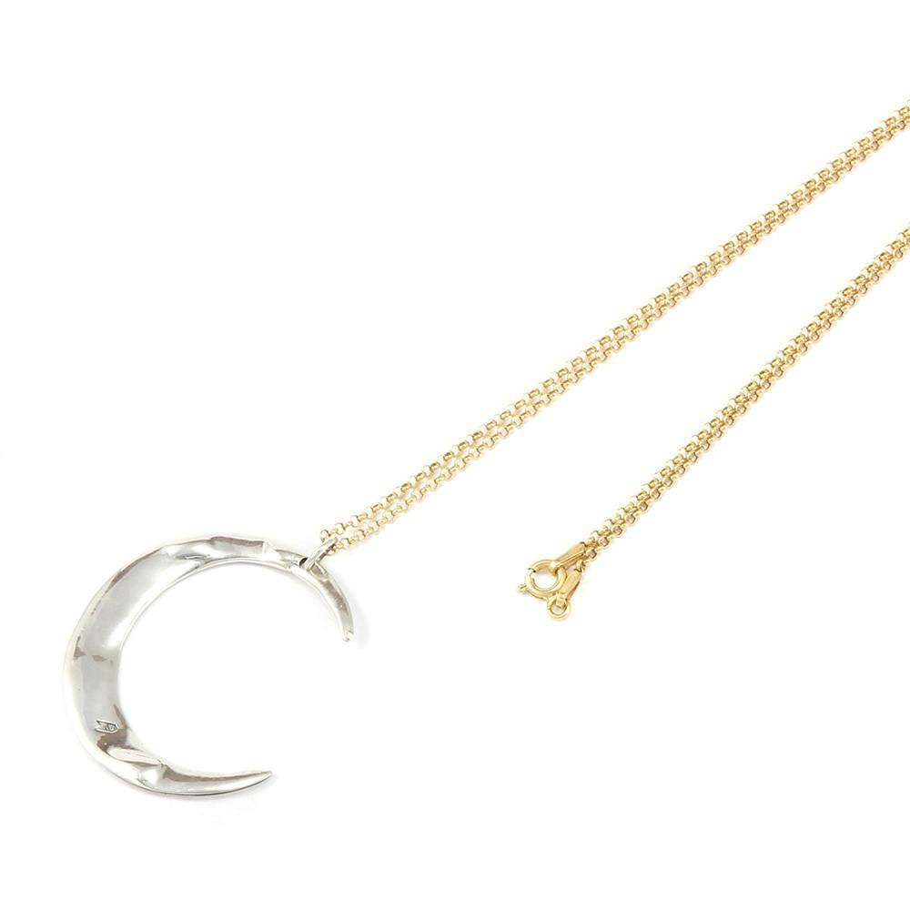 Silver & Gold Mega Lune Necklace