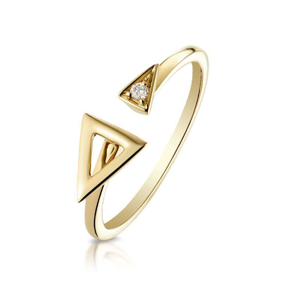 Yellow Gold and Diamond Devotion Ring