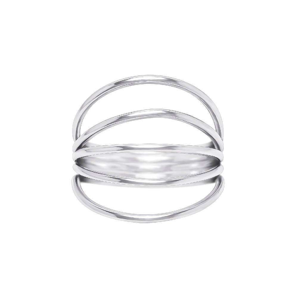 Air - Sterling Silver Ring with 5 Loops