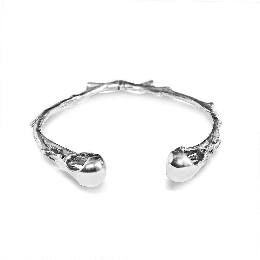 Bird Skull Open Bangle
