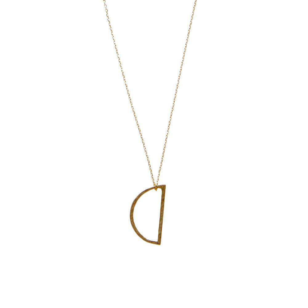 Gold Demi Lune Necklace