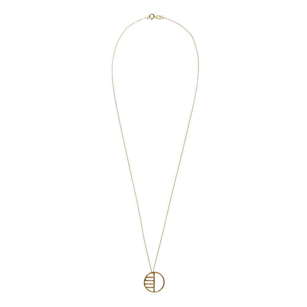 Gold Eclipse Necklace