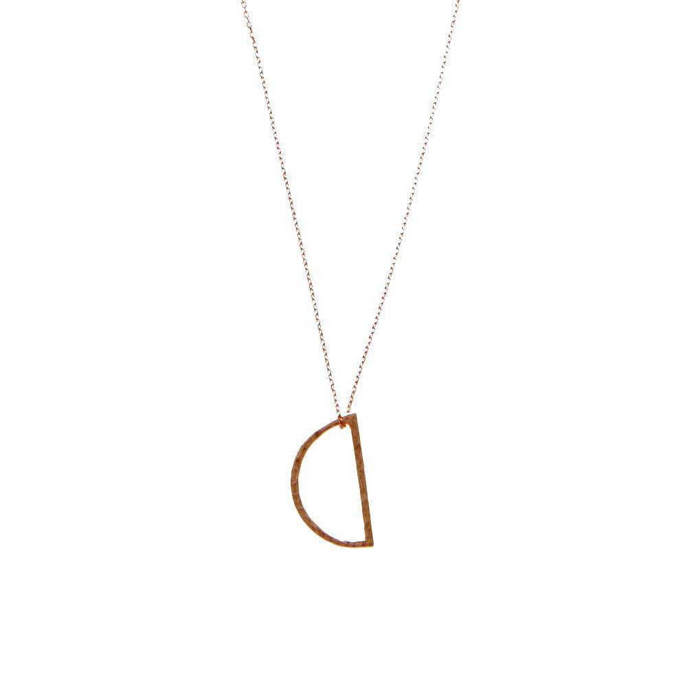 Rose Gold Demi Lune Necklace