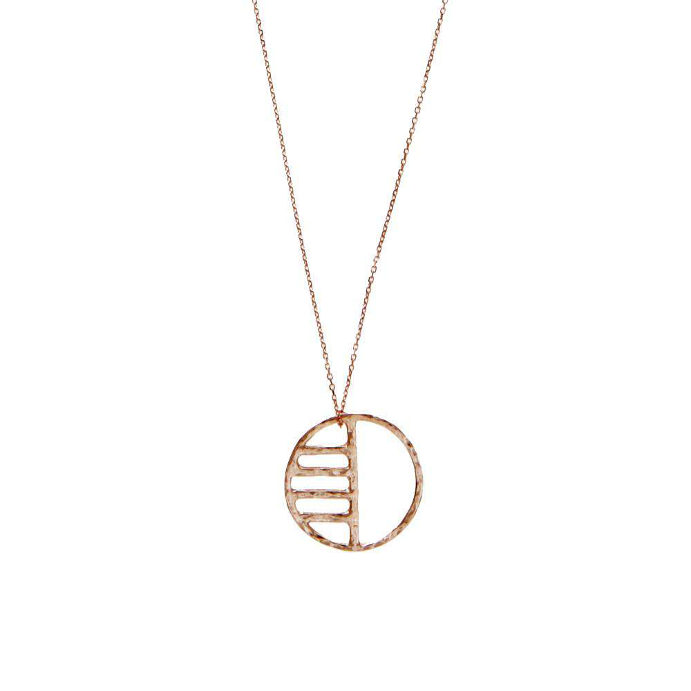 Rose Gold Eclipse Necklace