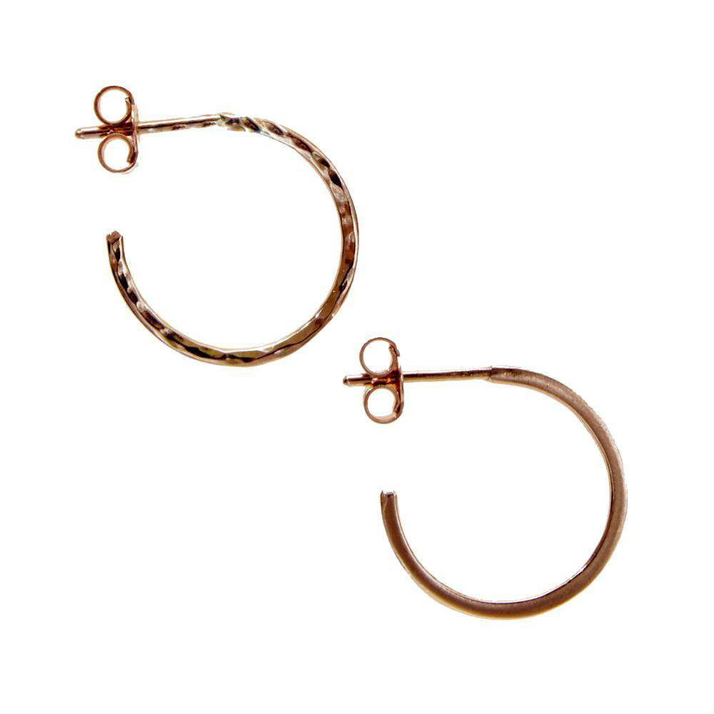 Rose Gold Hidden Orbit Hoops