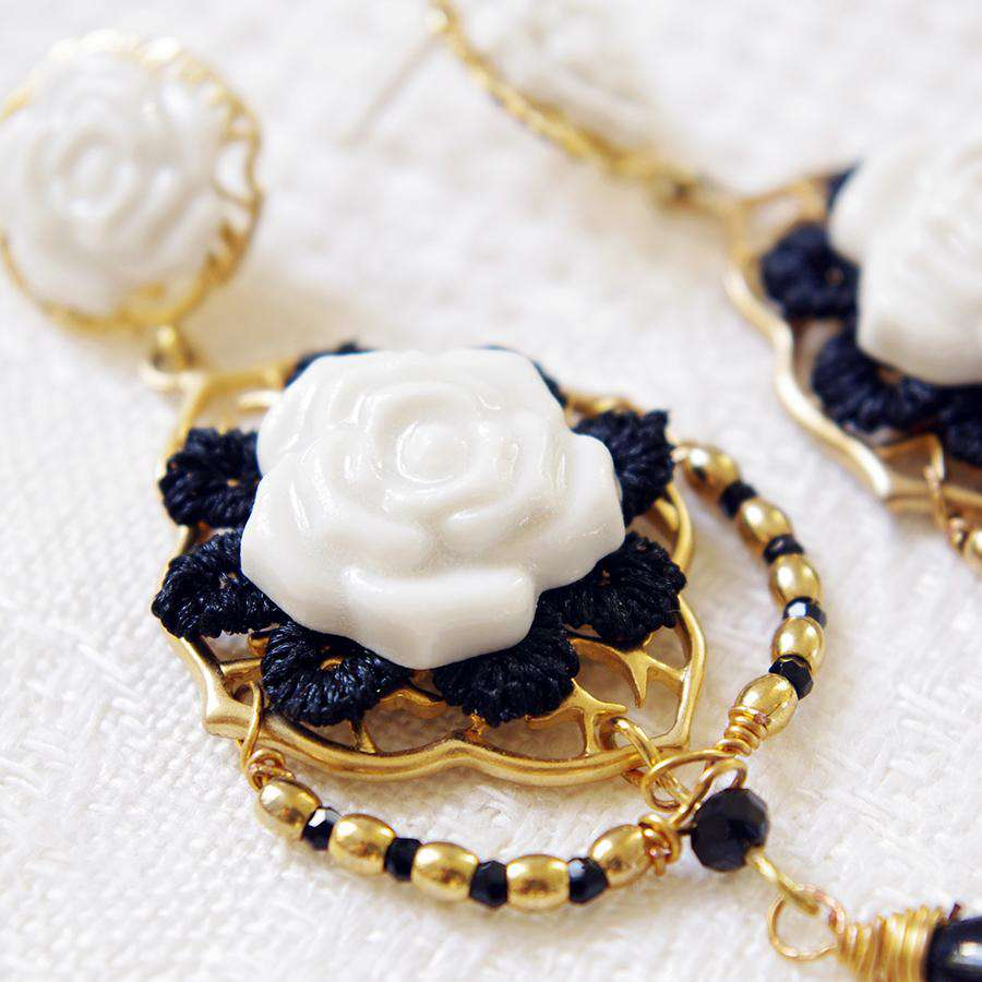 Classic Rose Statement Earrings