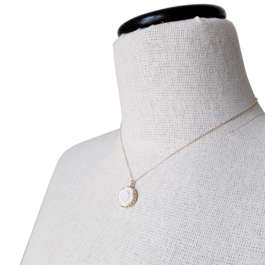 Moonlight Rose Gold-Filled Pendant Necklace