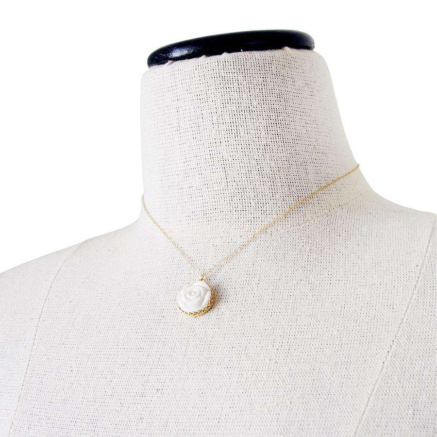 Rose With Pearl Gold-Filled Necklace
