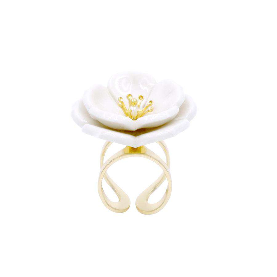 Plum Blossom Statement Ring