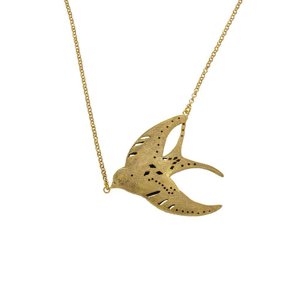 Swallow Necklace Gold
