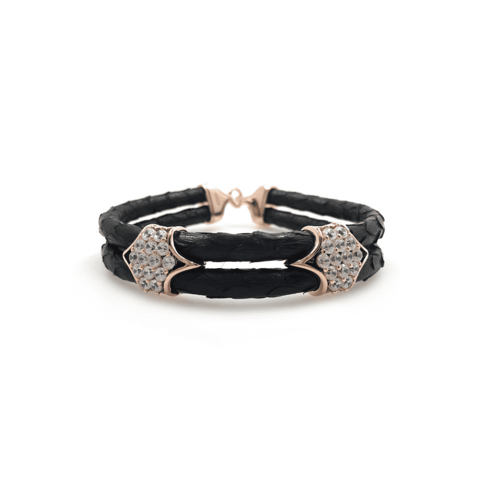 20K Python Leather Bracelet