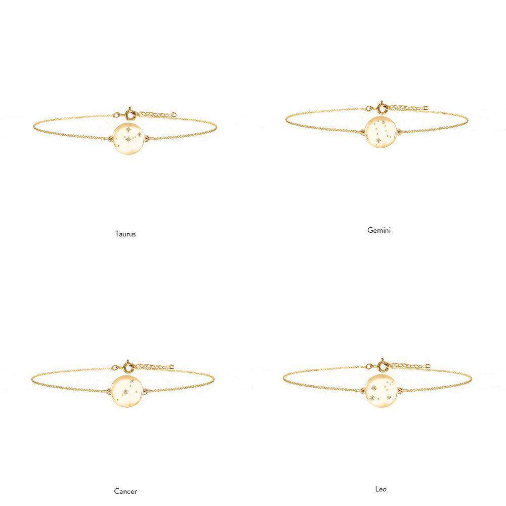 Zodiac Constellation Bracelet - 9ct solid Gold & Diamonds