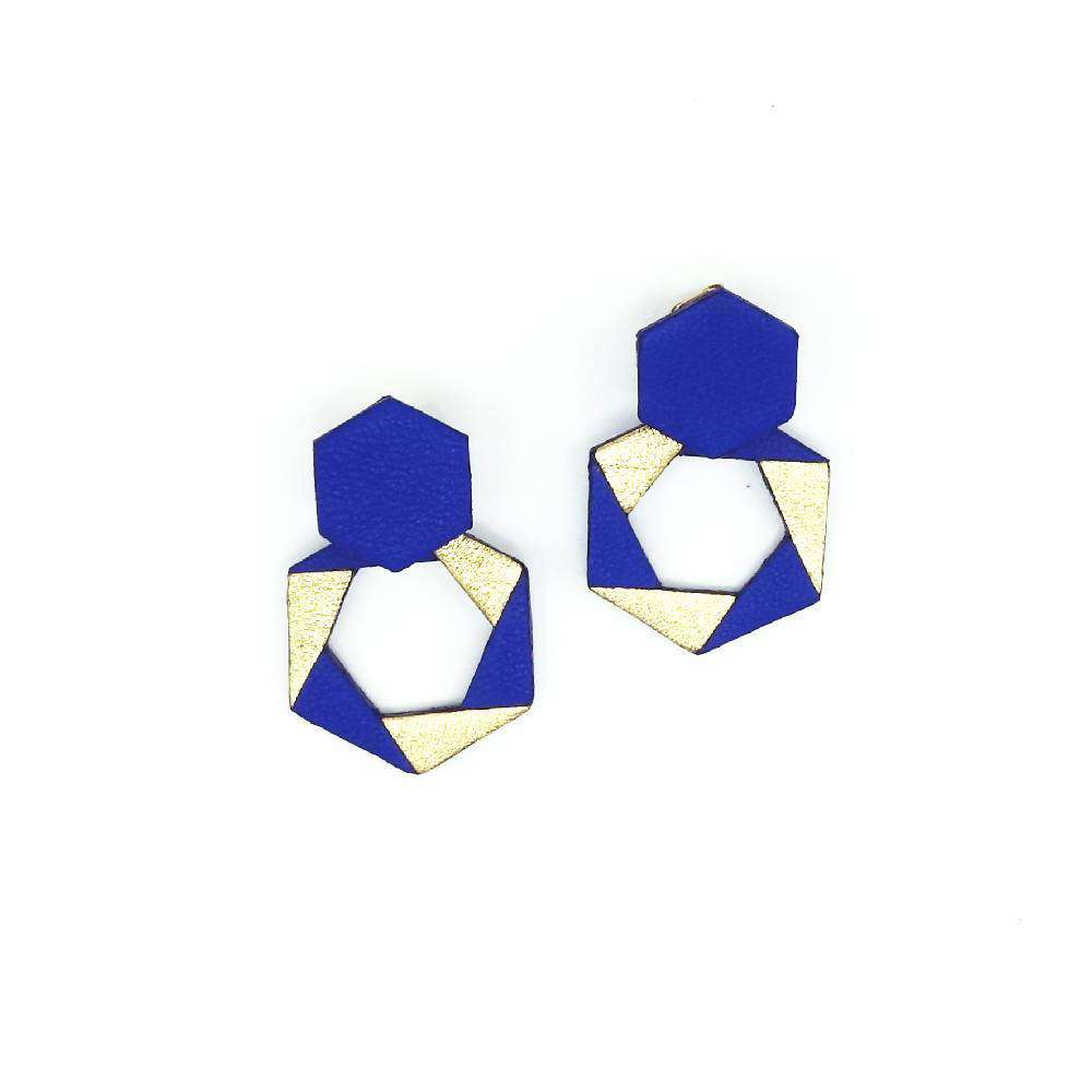 Hexagons leather studs