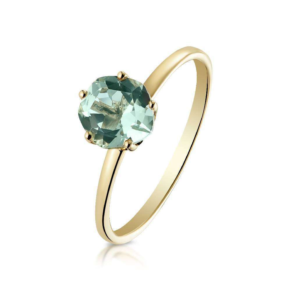 Yellow Gold and Green Amethyst Chic Galina Ring