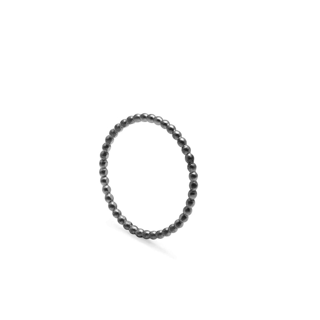 Ball Ring - Oxidised Silver