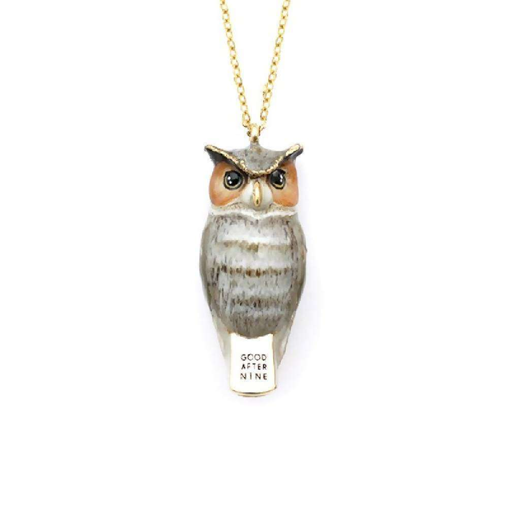Merry Great horn Owl Whistle Necklace
