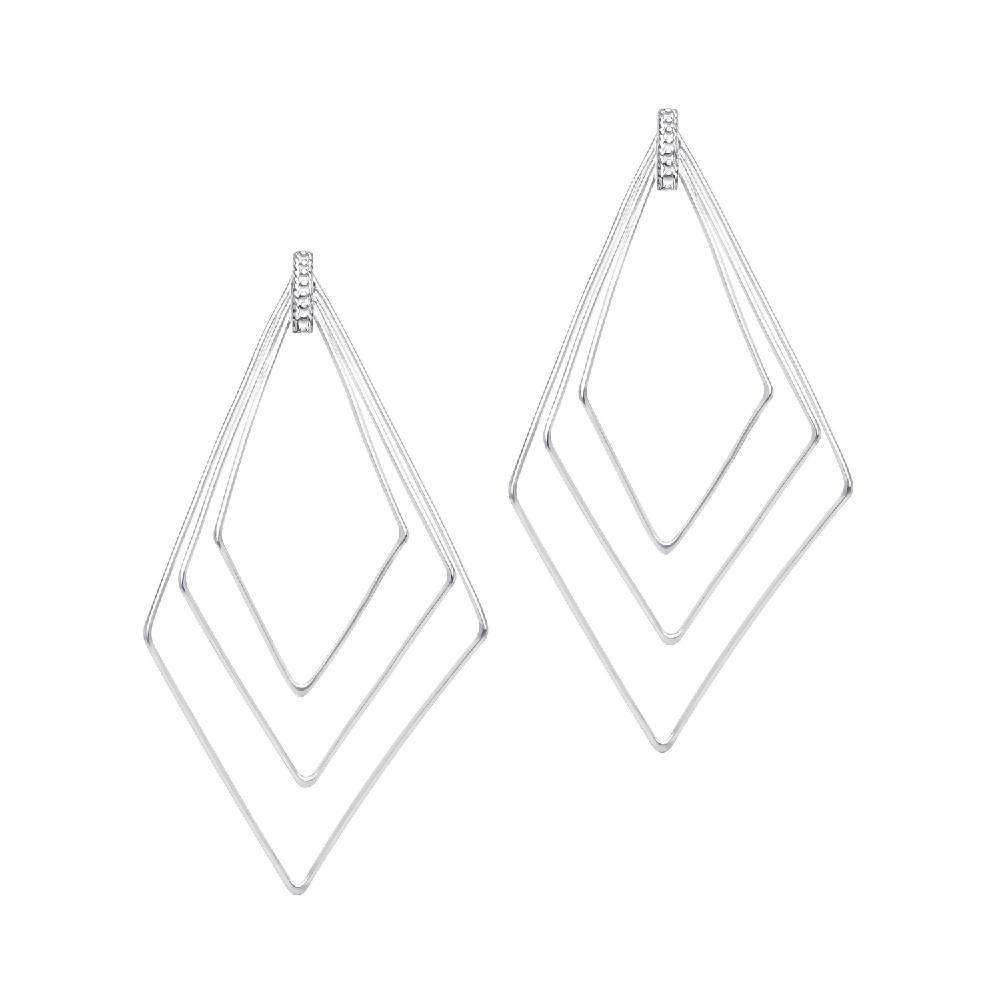 Air - Rhombus earrings in sterling silver