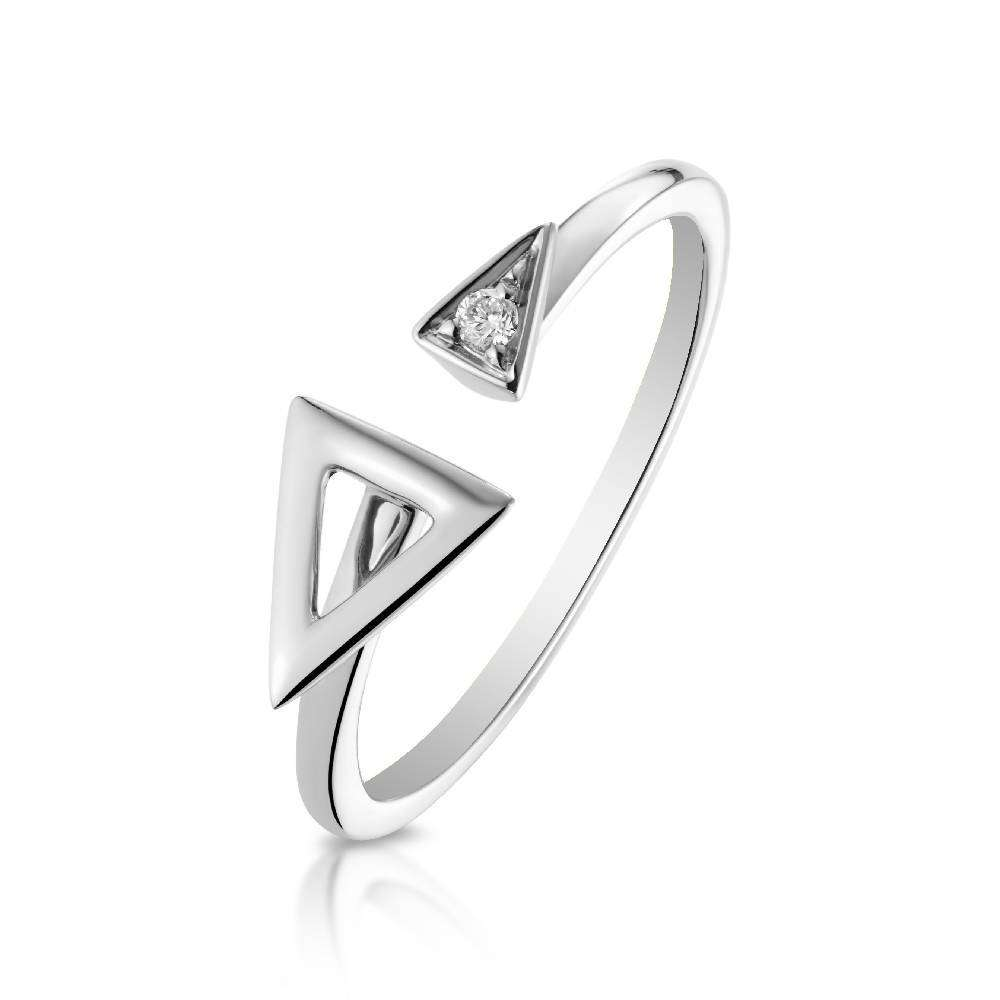White Gold and Diamond Devotion Ring