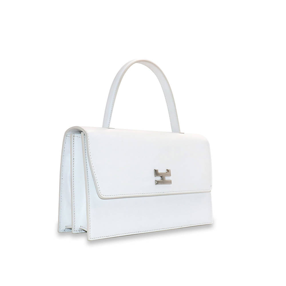 Ninel White Leather
