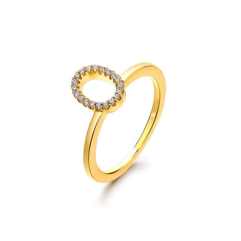 9ct Yellow Gold & Silver Two-tone Square Stacking Ring