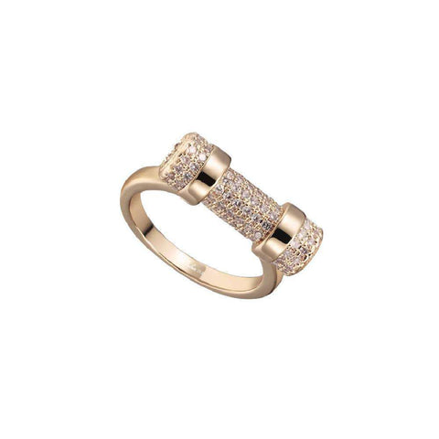 Rose Gold Paved Cuff Ring