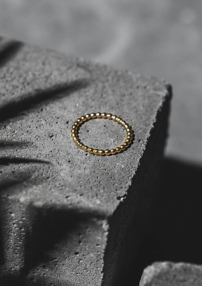 Champagne Ring Gold Plated Sterling Silver