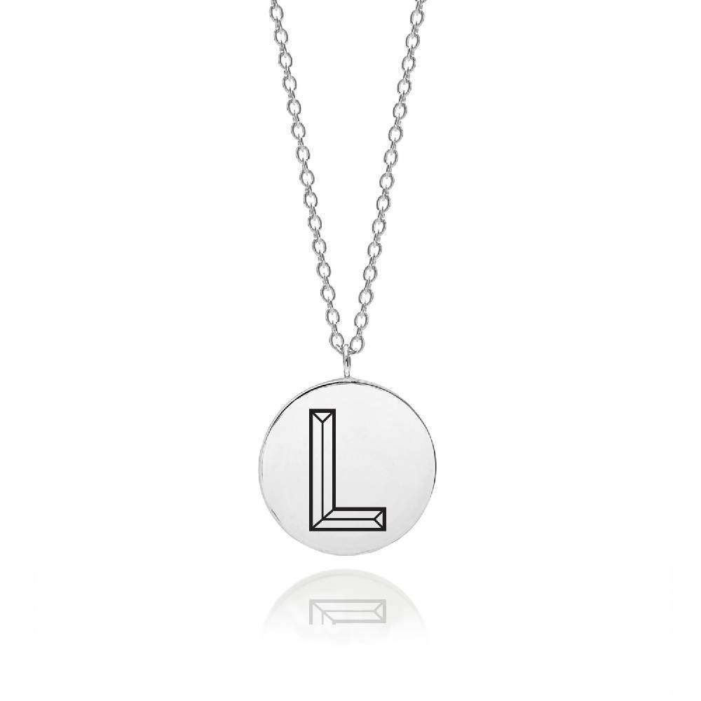 Sterling Silver Facett Initial L Pendant
