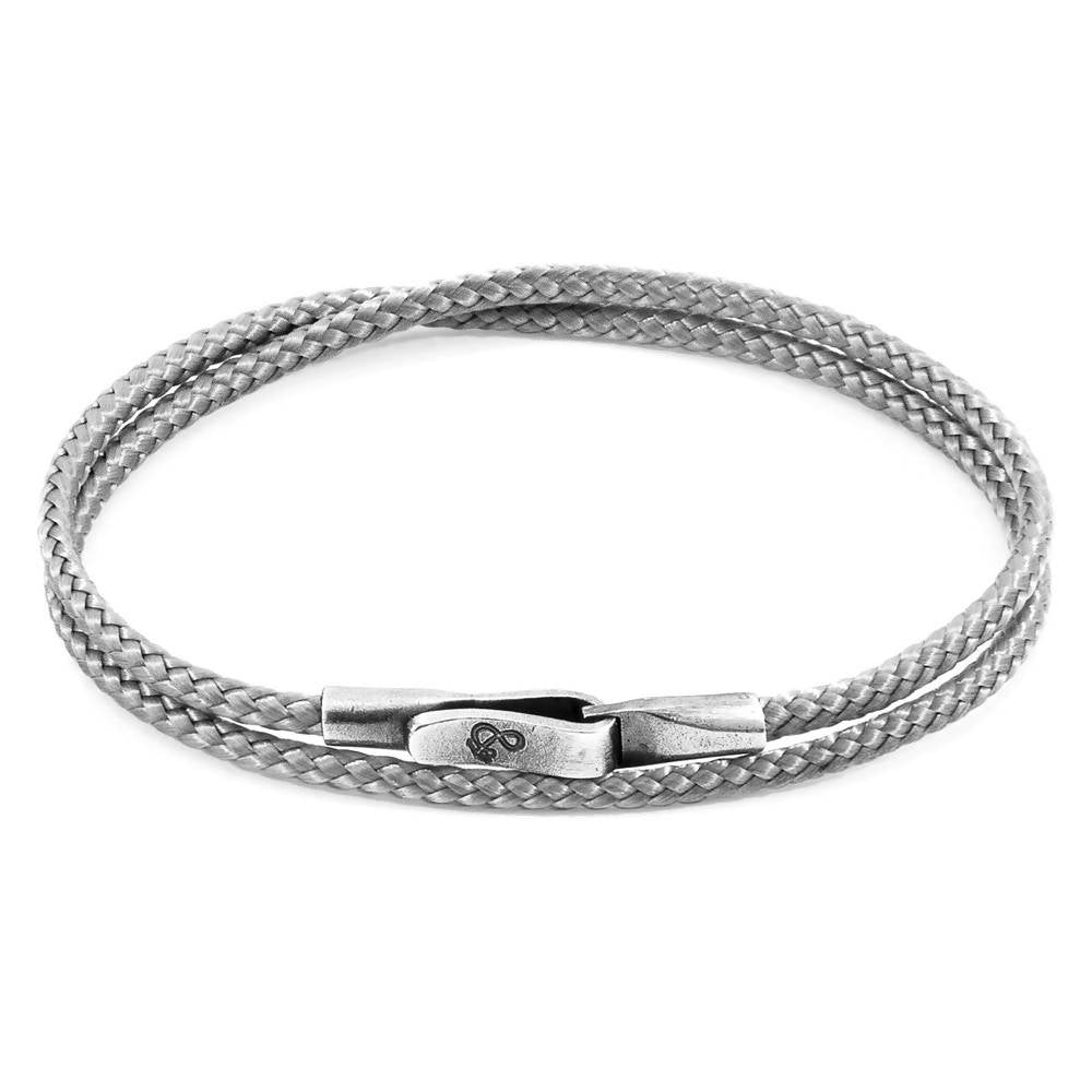 LIVERPOOL SILVER AND ROPE BRACELET