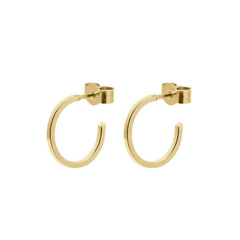 Mini Circle Earrings - Gold