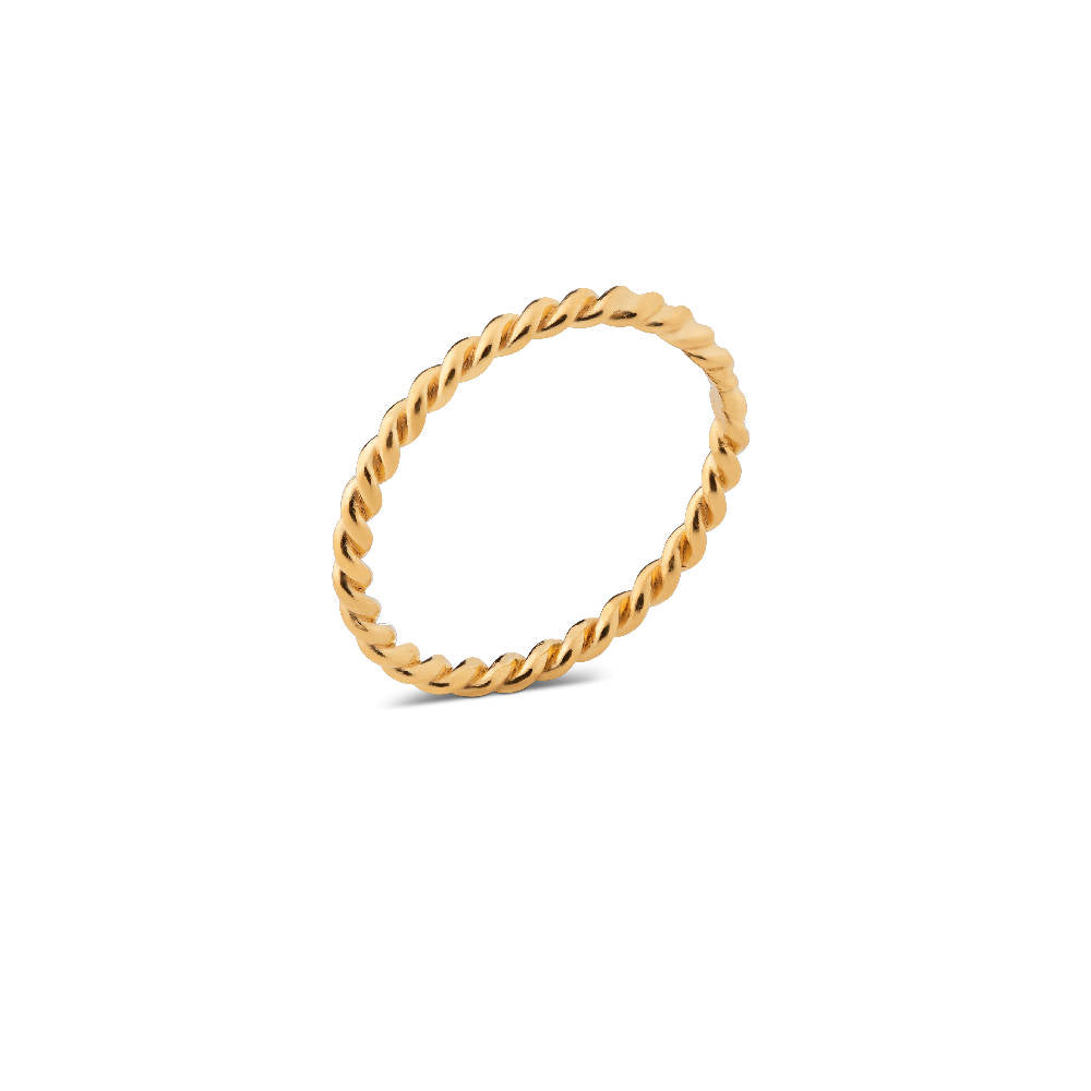 Twisted Ring Gold Plated Sterling Silver