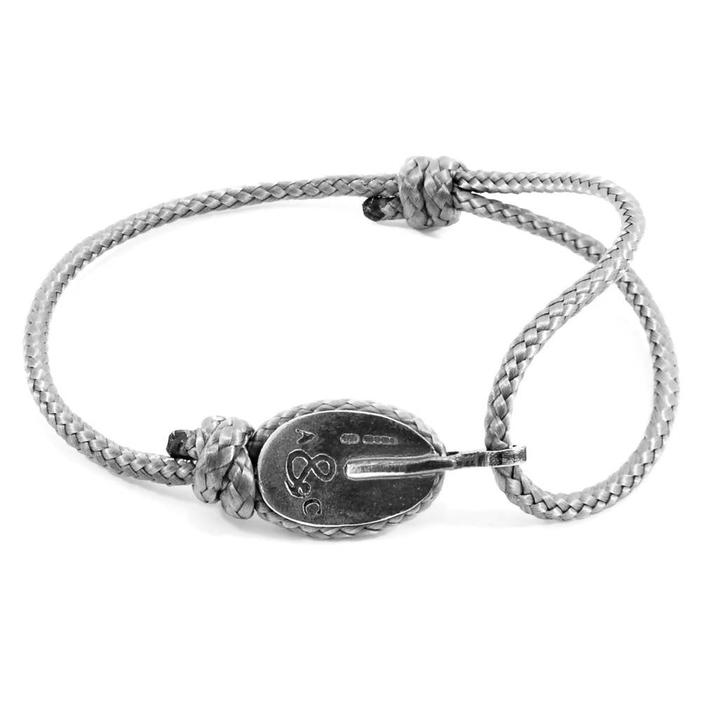 LONDON SILVER AND ROPE BRACELET