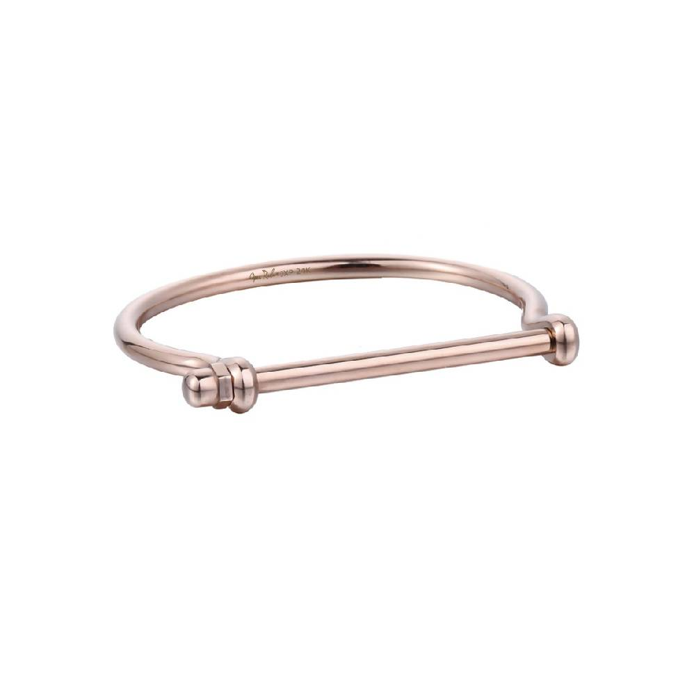 Rose Gold Screw Cuff Bracelet