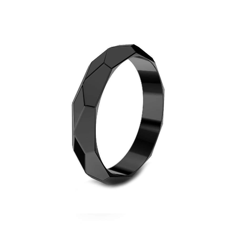 FACETED Ring - Black