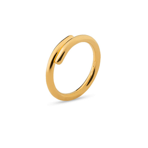Mini Bomb Multisize Ring Gold Plated Sterling Silver