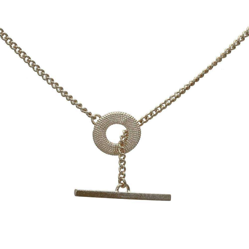Weol Sterling Silver T-Bar Necklace