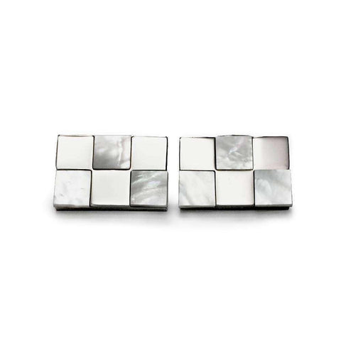 Elegant Glass Stone Cuff Links